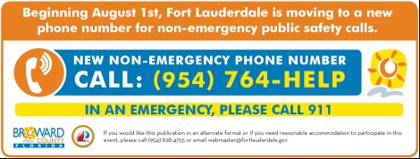 Non-Emergency Phone Number Banner