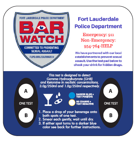 Bar Watch Coaster Front